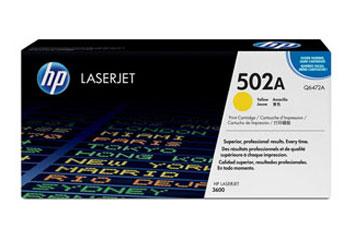 TONER HP 502A AMARILLO PARA LASERJET 3600