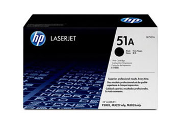 TONER HP Q7551A NEGRO- TONER CARTRIDGE - 1 X BLACK - 6500 PAGES PARA LASERJET 3005D