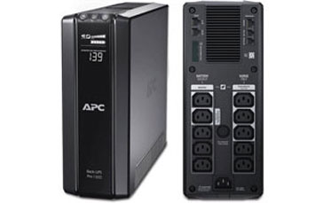UPS APC BR1500G BACK-UPS PRO, 865 WATTS / 1500 VA, INPUT 120V / OUTPUT 120V, EXTENDED RUNTIME MODEL