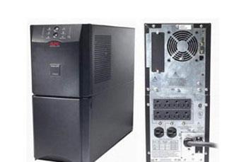 UPS APC SMART-UPS SUA2200, 1980 WATTS / 2200 VA, INPUT 120V / OUTPUT 120V , INTERFACE PORT DB-9 RS-232, SMARTSLOT