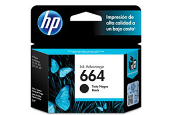 CARTUCHO HP 664 BLACK INK CARTRIDGE, PARA IMPRESORAS INK ADVANTAGE 2135, 3635, 4535, 3835.