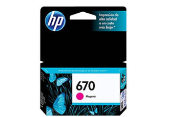 CARTUCHO HP 670 - PRINT CARTRIDGE - 1 X DYE-BASED MAGENTA - 300 PAGES - FOR DESKJET INK ADVANTAGE 3525, DJ4615, DJ3525, DJ5525, DJ4625.