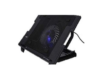 COOLING PAD PARA NOTEBOOK AGILER MULTIANGULOS CON ABANICO DE 130MM MAS HUB USB 2 PUERTOS, 3 POSICIONES.