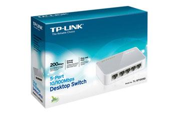 SWITCH 5 PUERTOS TP-LINK TL-SF1005D, NO ADMINISTRABLE/DESKTOP, 5 PUERTOS 10/100MBPS.