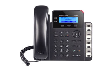 TELEFONO IP GRANDSTREAM GXP - 1628 SMALL - MEDIUM BUSINESS HD IP PHONE2 LINES WITH 2 SIP ACCOUNT, 132X40 GRAPHICAL LCD, 3 XML PROGRAMMABLE CONTEXT - SENSITIVE, 10 / 100 / 1000 GBPS MBPS POE, 3 - WAY CONFERENCE.