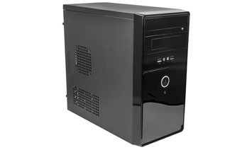 CASE MID TOWER P4 - ATX NEGRO, 24PIN, SATA,USB 2.0 + AUDIO, POWER 600W.