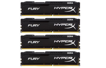 MEMORIA 16GB (4X4GB) KINGSTON, PC/DESKTOP, DDR4, 2133MHZ, PC4-17000, NO-ECC. HYPERX FURIX BLACK