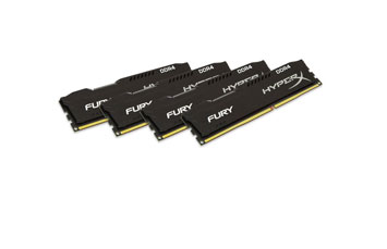 MEMORIA 16GB (4X4GB) KINGSTON, PC/DESKTOP, DDR4, 2400MHZ, PC4-19200, NO-ECC. HYPERX FURIX BLACK.