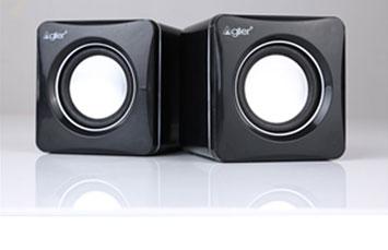 BOCINA USB AGILER, 300W, BLANCA/NEGRO, CONTROL DE VOLUMEN