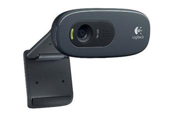 CAMARA WEB LOGITECH C270 - USB 2.0 3.0 MP, MICRÓFONO INTEGRADO, IDEAL PARA VIDEO CONFERENCIAS CLIP PARA MONITOR PLANO. (960-000694)