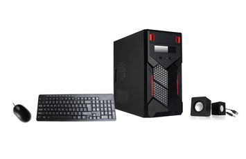CASE COMBO XTECH NEGRO TECLADO / MOUSE OPTICO Y BOCINAS, POWER 500W (CS705XTK02)