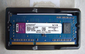 MEMORIA 1GB (1X1GB) KINGSTON, P/LAPTOP, DDR3, 1333MHZ, PC3-10600, NO-ECC.