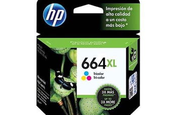 CARTUCHO HP 664XL COLOR INK HIGH YIELD CARTRIDGE, PARA IMPRESORAS INK ADVANTAGE 2135, 3635, 4535, 3835, 1115
