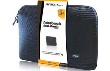 COVER ARGOM NEGRA (TIPO FUNDA) DE 15.6 PULGS. ANTI-SHOCK PARA PARA LAPTOP.