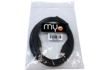 CABLE EXTENSION USB MYO, 10 PIES, NEGRO. (MYO-USBEXT10FT)