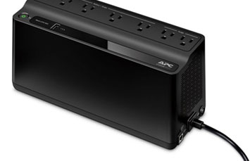 UPS APC BE600M1 BACK-UPS, 330 WATTS / 600 VA, INPUT 120V / OUTPUT 120V, 1 USB CHARGING PORT
