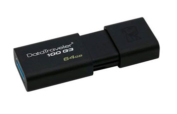 MEMORIA USB 64GB 3.0 KINGSTON, DATA TRAVELER 100 G3