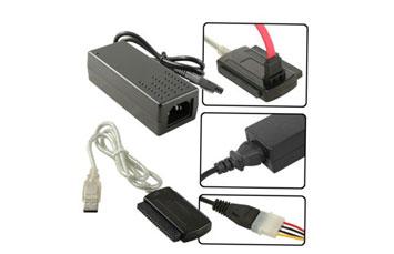ADAPTADOR USB A SATA/IDE 2.5 - 3.5, CABLE CON FUENTE DE PODER (AGI-1110)