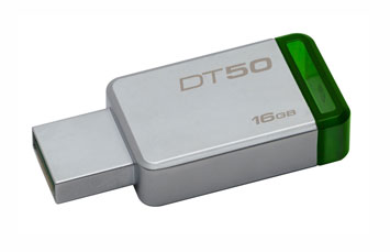 MEMORIA USB 16GB 3.1/3.0/2.0 KINGSTON, DATA TRAVELER 50.