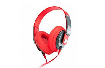AUDIFONO HEADSET KLIPX - OBSESSION - STEREO - ROJO - CONTROL DE VOLUMEN KHS-550RD