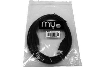 CABLE EXTENSION USB MYO, 6 PIES, NEGRO. (MYO-USBEXT6FT)