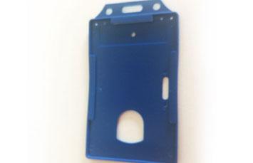 Portacarnet azul