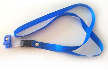 Lazo portacarnet azul