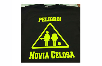 Tshirt algodon vinyl negro