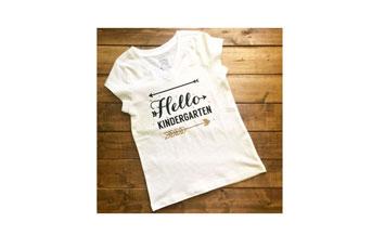 Tshirt dry fill vinyl blanco