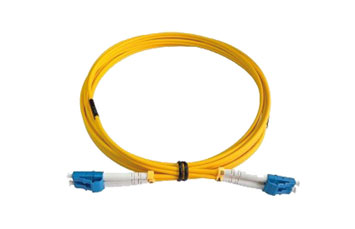 FIBER PATCH CORD, OS2 SINGLEMODE RISERDUPLEX ZIPCORD 1.6MM CABLE; 1ST END WITH SC CONNECTOR, AND 2ND END LC/APC CONNECTOR;OVERALL CABLE LENGTH OF 10 METERS, A - B (STANDARD) POLARITY.