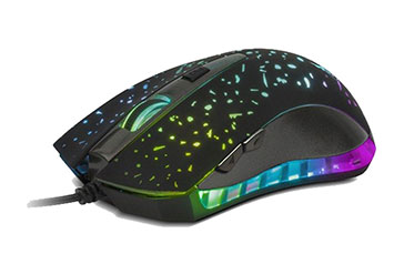 MOUSE XTECH GAMING XTM-410, USB, 6 BOTONES, 2400DPI, BLACK