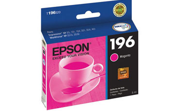 CARTUCHO EPSON MAGENTA 196 PARA IMPRESORA XP101/XP201/ XP211/XP214/XP401/XP411/WF-2532