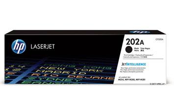 TONER HP 202A (CF500A) BLACK, LASERJET PRINT CARTRIDGE - 1400 PAGINAS - PARA M254DW / M281FDW