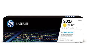 TONER HP 202A (CF502A) YELLOW, LASERJET PRINT CARTRIDGE - 1300 PAGINAS - PARA M254DW / M281FDW