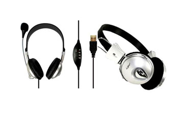 AUDIFONO HEADSET CON MICROFONO AGILER DELUXE, CONTROL DE VOLUMEN, NEGRO (AGI-0225)