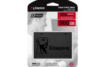 DISCO DE ESTADO SOLIDO KINGSTON 960GB, A400, SATA3, SSD (SA400S37/960G)