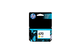 CARTUCHO HP 670 - PRINT CARTRIDGE - 1 X DYE-BASED AMARILLO - 300 PAGES - FOR DJ3525, DJ4615, DJ5525, DJ4625