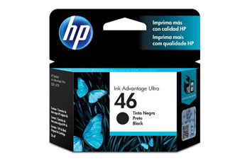 CARTUCHO HP 46 - PRINT CARTRIDGE - 1 X BLACK - 1500 PAGES, DESKJET INK ADVANTAGE ULTRA PARA IMPRESORAS 2529 Y 4729, 5739