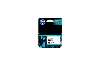CARTUCHO HP 670 - PRINT CARTRIDGE - 1 X PIGMENTED BLACK - 250 PAGES - FOR DESKJET INK ADVANTAGE 3525, DJ4615, DJ3525, DJ5525, DJ4625.