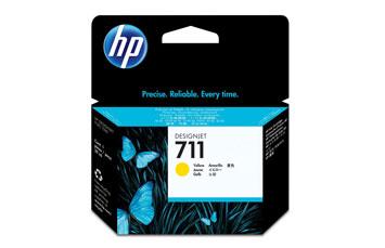 CARTUCHO HP 711 - CZ132A - PRINT CARTRIDGE - 1 X YELLOW - FOR DESIGNJET T120 EPRINTER, T520 EPRINTER