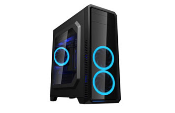CASE MYO GAMING ATX NEGRO CON PANEL TRANSPARENTE LATERAL, 1 ABANICO TRASERO - 1 DELANTERO, NEGRO, 1 X 3.0 USB + 2X 2.0 USB, INCLUYE POWER SUPPLY (MYO-G510)