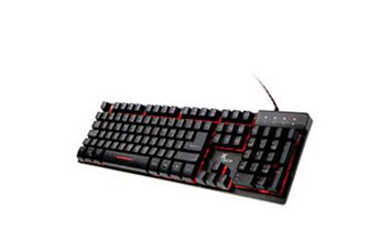 TECLADO GAMER XTECH XTK-520S, USB, ESPANOL, MULTIMEDIA, LUZ DE FONDO 3 COLORES