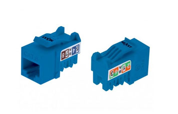 JACK KEYSTONE UNSHIELDED NEXXT CAT6 TIPO 110 AZUL