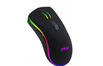 MOUSE GAMING MYO SERIE 8, SENSOR OPTICO 6 BOTONES, VELOCIDAD DEL MOUSE AJUSTABLE ENTRE 800 A 3200 DPI, 4 COLORES, RGB LIGHTING