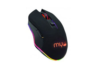 MOUSE GAMING MYO SERIE IV, 6 BOTONES, VELOCIDAD DEL MOUSE AJUSTABLE ENTRE 800 A 3200 DPI, RGB LIGHTING