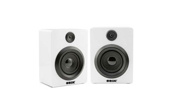 BOCINA COBY PORTABLE, 2 SHELF SPEAKER BLUETOOTH, STEREO, AUTO-CONNECTS, BLANCO