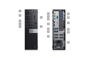 COMPUTADORA DELL OPTIPLEX 7070 SFF BTX, I7-9700 3.0GHZ UP TO 4.8GHZ, 8GB (1X8G) DDR4 2666MHZ, 1TB 3.5, W10 PRO 64-BIT ING, INCLUYE TECLADO + MOUSE ESPANOL