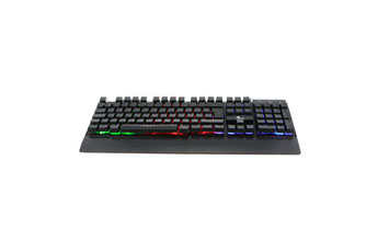 TECLADO GAMER XTECH XTK-510E, USB, INGLES, MULTIMEDIA, LUZ DE FONDO