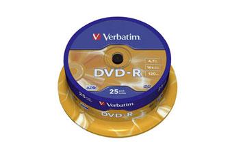 DVD-R VERBATIM 16X, 4.7GB, SPINDLE, 25PK
