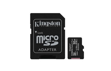 MEMORIA MICROSD 64GB KINGSTON, SDHC, CLASE 10 UHS-1, A1, INCLUYE ADAPTADOR SD